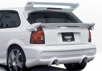 Wings West - Honda Civic HB Wings West Tuner Type II Rear Bumper Cover - 890508