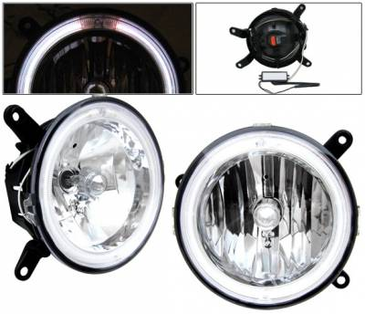 4 Car Option - Ford Mustang 4 Car Option Halo Fog Light Kit - Clear - LHF-FM05CR