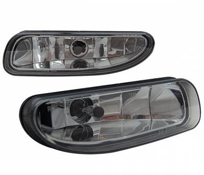 4 Car Option - Ford Mustang 4 Car Option Fog Light Kit without Bracket - Smoke - LHF-FM96SM-DP