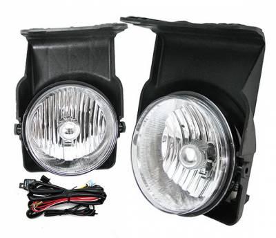 4 Car Option - GMC Sierra 4 Car Option Fog Light Kit - Clear - LHF-GSI03C