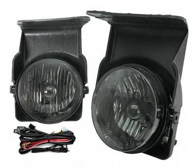 4 Car Option - GMC Sierra 4 Car Option Fog Light Kit - Smoke - LHF-GSI03SM