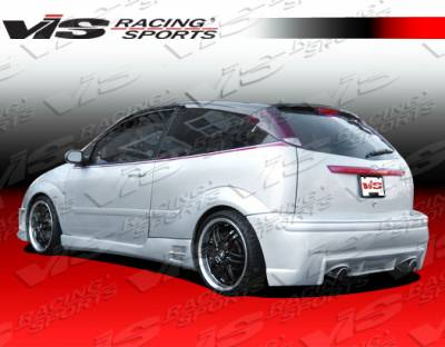 VIS Racing - Ford Focus VIS Racing EVO Rear Bumper - 00FDFOC2DEVO-002