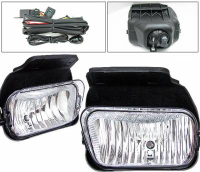 4 Car Option - GMC Sierra 4 Car Option Fog Light Kit - Clear - LHF-GSI05C