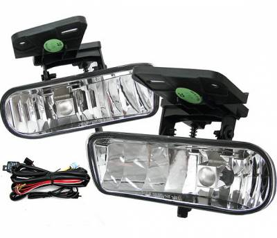 4 Car Option - GMC Sierra 4 Car Option Fog Light Kit - Clear - LHF-GSI99C