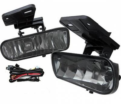 4 Car Option - GMC Sierra 4 Car Option Fog Light Kit - Smoke - LHF-GSI99SM