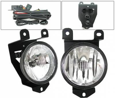 4 Car Option - GMC Denali 4 Car Option Fog Light Kit with Switch - Clear - LHF-GY00C