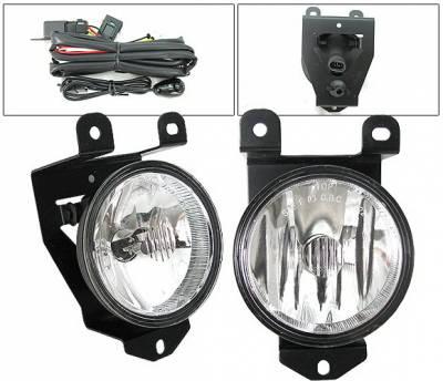 4 Car Option - GMC Yukon 4 Car Option Fog Light Kit with Switch - Clear - LHF-GY00C
