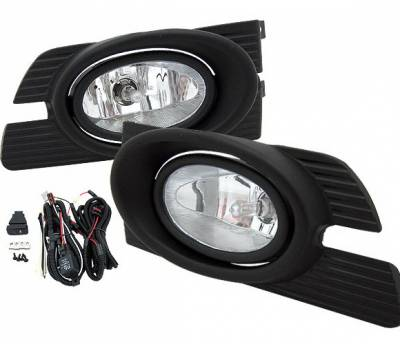 4 Car Option - Honda Accord 4 Car Option Fog Light Kit - Clear - LHF-HA01