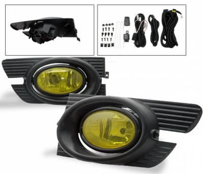 4CarOption - Honda Accord 4DR 4CarOption Fog Light Kit - LHF-HA01-YL