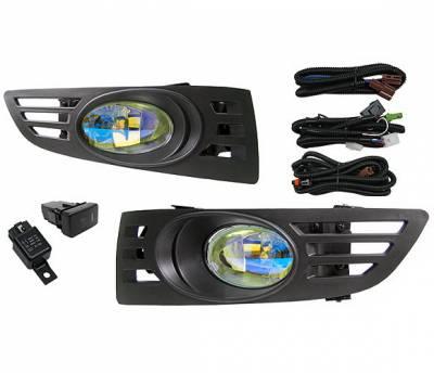 4 Car Option - Honda Accord 2DR 4 Car Option Fog Light Kit - Ion - LHF-HA032-ION