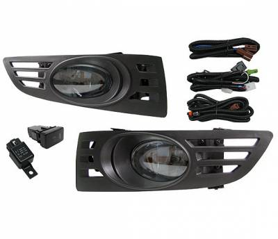 4 Car Option - Honda Accord 2DR 4 Car Option Fog Light Kit - Smoke - LHF-HA032-SM
