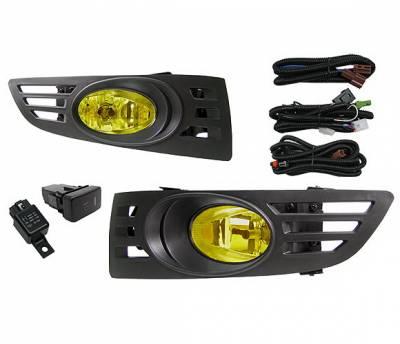 4 Car Option - Honda Accord 2DR 4 Car Option Fog Light Kit - Yellow - LHF-HA032-YL