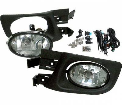 4 Car Option - Honda Accord 4DR 4 Car Option Fog Light Kit - Clear - LHF-HA034