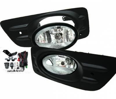 4 Car Option - Honda Accord 4DR 4 Car Option Fog Light Kit - Clear - LHF-HA064C