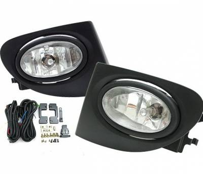 4 Car Option - Honda Civic HB 4 Car Option Fog Light Kit - Clear - LHF-HC02SI