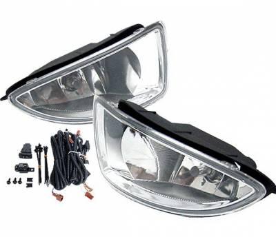 4 Car Option - Honda Civic 4 Car Option Fog Light Kit - Clear - LHF-HC04