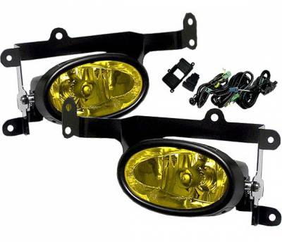 4 Car Option - Honda Civic 2DR 4 Car Option Fog Light Kit - Yellow - LHF-HC062-YL