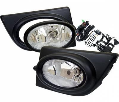 4 Car Option - Honda Civic 4DR 4 Car Option Fog Light Kit - Clear - LHF-HC064C