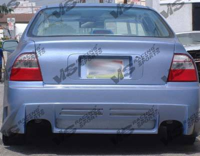 VIS Racing - Honda Civic 2DR VIS Racing Cyber Rear Bumper - 01HDCVC2DCY-002