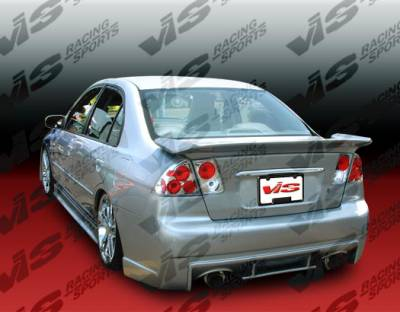 VIS Racing - Honda Civic 2DR VIS Racing Evo 5 Rear Bumper - 01HDCVC2DEVO-002
