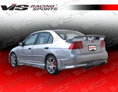 VIS Racing - Honda Civic 4DR VIS Racing Octane Rear Bumper - 01HDCVC4DOCT-002