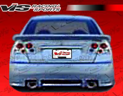 VIS Racing - Honda Civic 4DR VIS Racing Z1 boxer Rear Bumper - 01HDCVC4DZ1-002