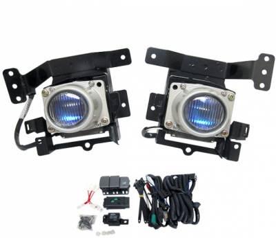 4 Car Option - Honda Civic 4DR 4 Car Option Fog Light Kit - Blue Ion - LHF-HC924B