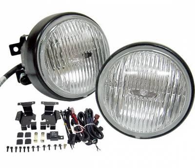4 Car Option - Honda Civic 2DR 4 Car Option Round Fog Light Kit - Blue Ion - LHF-HC962B