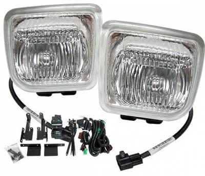 4 Car Option - Honda Civic 4DR 4 Car Option Square Fog Light Kit - Clear - LHF-HC964C