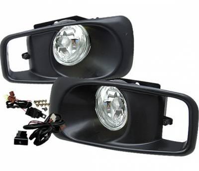 4 Car Option - Honda Civic 4 Car Option Fog Light Kit - Clear - LHF-HC99