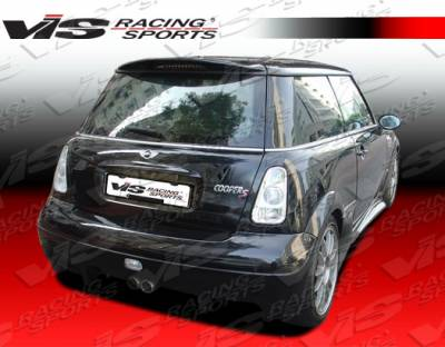 VIS Racing - Mini Cooper VIS Racing Invader Rear Bumper - 02BMMCS2DINV-002