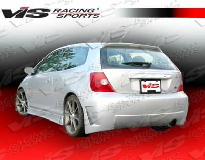 VIS Racing - Honda Civic HB VIS Racing TSC-3 Rear Bumper - 02HDCVCHBTSC3-002