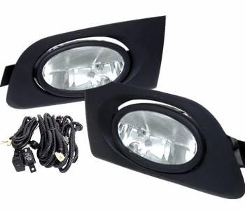 4CarOption - Honda Civic 4DR 4CarOption Fog Light Kit - LHF-HCV01-BL