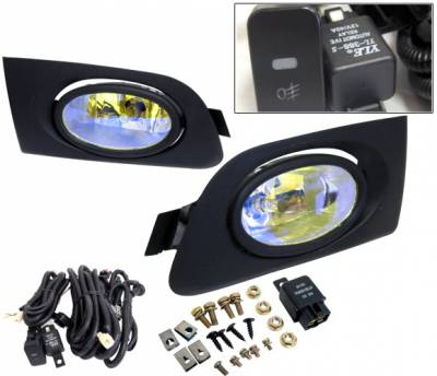 4 Car Option - Honda Civic 2DR & 4DR 4 Car Option Fog Light Kit - Blue Ion - LHF-HCV01-ION
