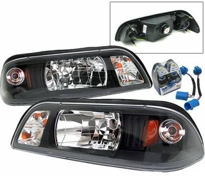4 Car Option - Ford Mustang 4 Car Option Headlights - Black - 1PC - LH-FM87B-YD