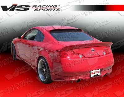 VIS Racing - Infiniti G35 2DR VIS Racing Invader Rear Lip - 03ING352DINV-012