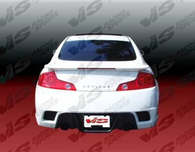 VIS Racing - Infiniti G35 2DR VIS Racing K Speed Rear Bumper - 03ING352DKSP-002