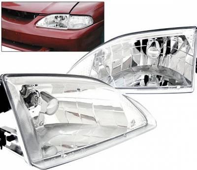 4 Car Option - Ford Mustang 4 Car Option Headlights Chrome - LH-FM94C-KS