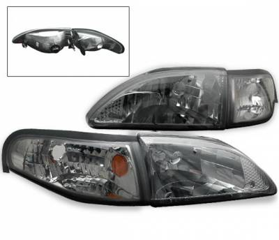 4CarOption - Ford Mustang 4CarOption Headlights - LH-FM94SM-KS-SET