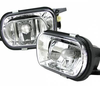 4 Car Option - Mercedes-Benz C Class 4 Car Option Fog Light Kit - Clear - LHF-MBW203CA-DP