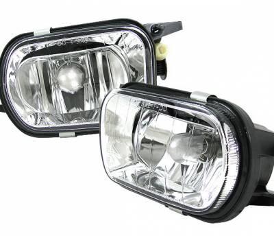 4 Car Option - Mercedes-Benz C Class 4 Car Option Fog Light Kit - Clear - LHF-MBW203CA-DP