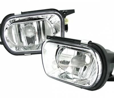 4 Car Option - Mercedes-Benz C Class 4 Car Option Fog Light Kit - Clear - LHF-MBW203C-DP