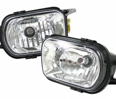 4CarOption - Mercedes C Class 4CarOption Fog Light Kit - LHF-MBW203C-FR