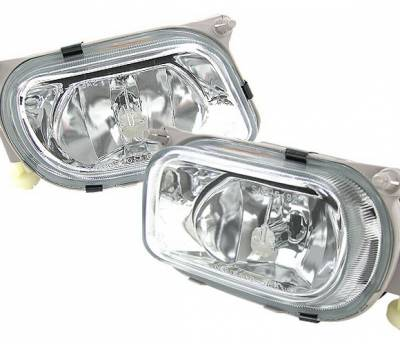 4 Car Option - Mercedes-Benz E Class 4 Car Option Fog Light Kit - Clear - LHF-MBW21096E