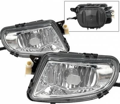 4 Car Option - Mercedes-Benz E Class 4 Car Option Fog Light Kit - Clear - LHF-MBW21099E