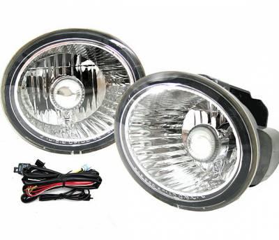4 Car Option - Nissan Altima 4 Car Option Fog Light Kit - Clear - LHF-NA02C