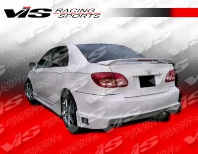 VIS Racing - Toyota Corolla VIS Racing Striker Rear Bumper - 03TYCOR4DSTR-002