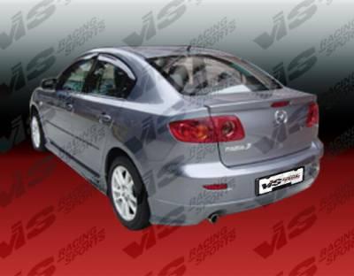 VIS Racing - Mazda 3 4DR VIS Racing K Speed Rear Bumper - 04MZ34DKSP-002