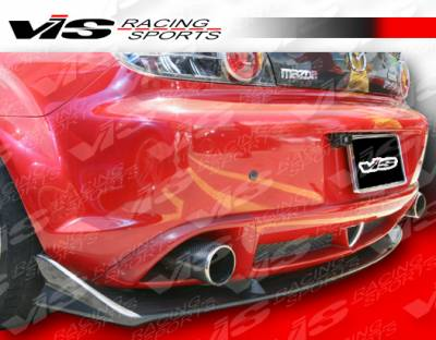 VIS Racing - Mazda RX-8 VIS Racing A Spec Rear Lip - Carbon Fiber - 04MZRX82DASC-012C