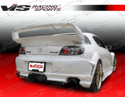 VIS Racing - Mazda RX-8 VIS Racing J Speed Rear Bumper - 04MZRX82DJSP-002